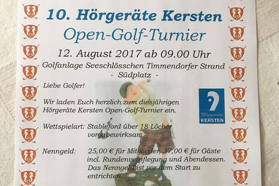 10. Hörgeräte Kersten Open-Golf-Turnier