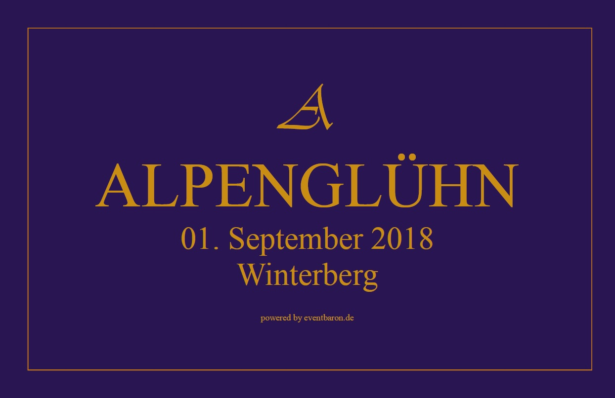 ALPENGLÜHN 1. September 2018