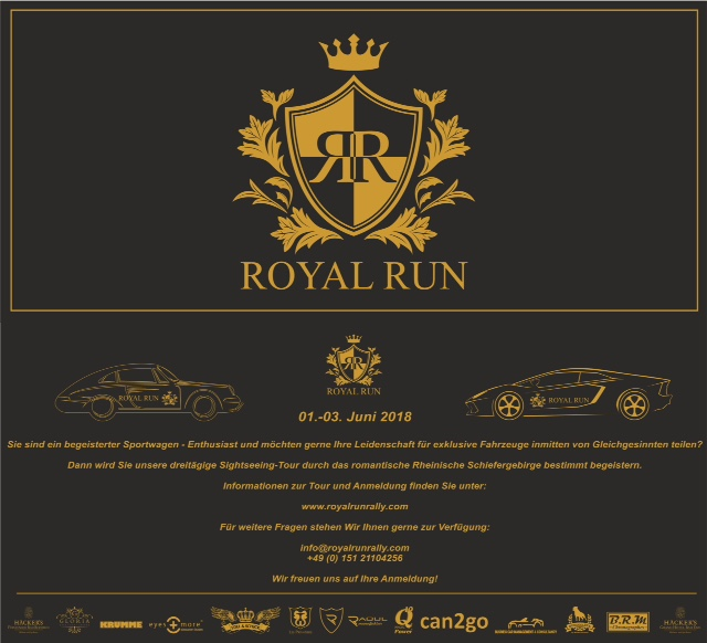 Royal Run 1. bis 3. Juni 2018