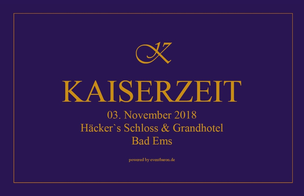 KAISERZEIT 3. November 2017