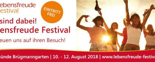 10. - 12. August 2018 Lebensfreude Festival im Brügmanngarten in Travemünde