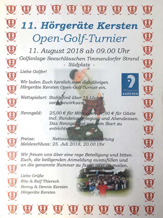 11. Hörgeräte Ersten Open-Golf-Turnier